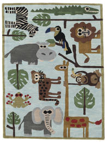 Zoo Handtufted Tappeto 120X180 Moderno Azzurro/Grigio Chiaro (Lana, India)