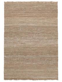 Sahara Jute Tappeto 140X200 Moderno Tessuto A Mano Grigio Chiaro/Beige ( India)