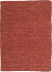 Kilim Loom - Ruggine Tappeto 160X230 Moderno Tessuto A Mano Rosso Scuro (Lana, India)