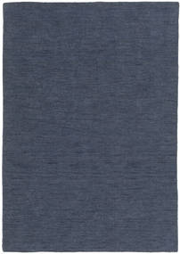 Kilim Loom - Denim Blu Tappeto 160X230 Moderno Tessuto A Mano Blu (Lana, India)
