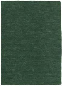 Kilim Loom - Verde Bosco Tappeto 160X230 Moderno Tessuto A Mano Verde Scuro (Lana, India)