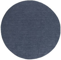 Kilim Loom - Denim Blu Tappeto Ø 200 Moderno Tessuto A Mano Rotondo Blu (Lana, India)
