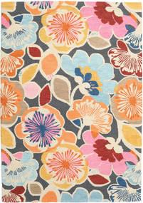 Flower Power - Multi Tappeto 160X230 Moderno Giallo/Grigio Scuro (Lana, India)