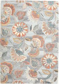 Rusty Flowers - Grigio/Ruggine Tappeto 160X230 Moderno Grigio Chiaro/Beige (Lana, India)