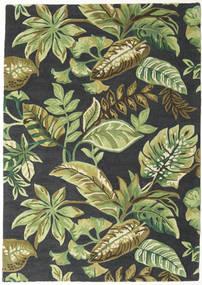 Jungel - Verde/Nero Tappeto 160X230 Moderno Verde Scuro/Verde Chiaro/Grigio Scuro (Lana, India)