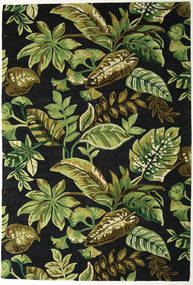 Jungel - Verde/Nero Tappeto 200X300 Moderno Verde Scuro/Verde Oliva (Lana, India)
