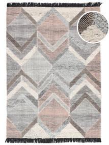 Silvana Tappeto 160X230 Moderno Tessuto A Mano Grigio Chiaro (Lana, India)