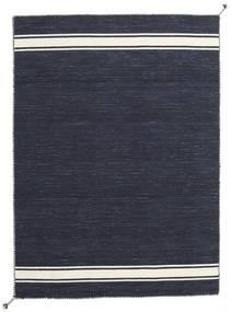 Ernst - Navy/Bianco Sporco Tappeto 140X200 Moderno Tessuto A Mano Blu Scuro/Grigio Scuro (Lana, India)