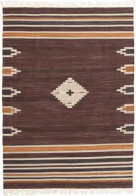 Tribal - Marrone Tappeto 160X230 Moderno Tessuto A Mano Marrone Scuro/Rosso Scuro (Lana, India)