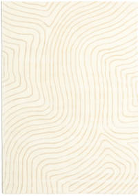 Woodyland - Beige Tappeto 160X230 Moderno Beige/Bianco/Creme (Lana, India)