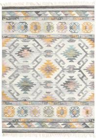 Mirza Tappeto 140X200 Moderno Tessuto A Mano Grigio Chiaro/Beige (Lana, India)