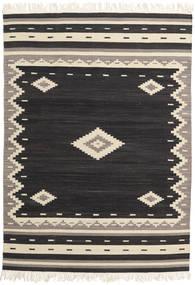 Tribal - Nero Tappeto 140X200 Moderno Tessuto A Mano Nero/Beige (Lana, India)