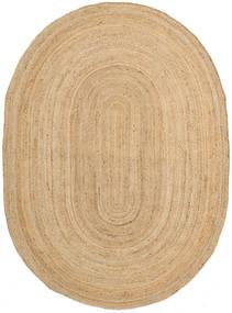 Frida Oval - Natural Tappeto 160X230 Moderno Tessuto A Mano Beige Scuro/Beige ( India)