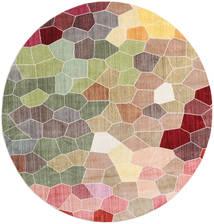 Play Of Colours Tappeto Ø 200 Moderno Rotondo Beige Scuro/Grigio Chiaro ( Turchia)