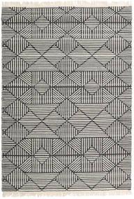 Mauri Tappeto 160X230 Moderno Tessuto A Mano Grigio Scuro/Grigio Chiaro/Beige Scuro (Lana, India)