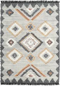 Dixie Tappeto 170X240 Moderno Tessuto A Mano Grigio Chiaro/Beige Scuro (Lana, India)