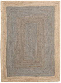 Frida Frame - Grigio/Natural Tappeto 160X230 Moderno Tessuto A Mano Grigio Chiaro/Beige ( India)