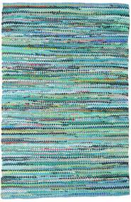 Ronja - Verde Tappeto 170X240 Moderno Tessuto A Mano Blu Turchese/Azzurro (Cotone, India)