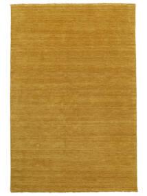 Handloom Fringes - Giallo Tappeto 160X230 Moderno Giallo/Marrone Chiaro (Lana, India)