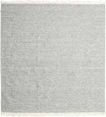 Melange - Grigio Tappeto 300X300 Moderno Tessuto A Mano Quadrato Grigio Chiaro Grandi (Lana, India)