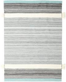 Fenix - Turchese Tappeto 170X240 Moderno Tessuto A Mano Bianco/Creme/Grigio Chiaro (Lana, India)