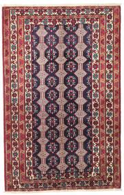 Beluch Patina Tappeto 132X206 Orientale Fatto A Mano Porpora Scuro/Beige (Lana, Persia/Iran)