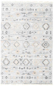 Pet Yarn Kilim Tappeto 160X230 Moderno Tessuto A Mano Bianco/Creme/Grigio Chiaro ( India)