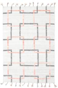 Pet Yarn Kilim Tappeto 157X233 Moderno Tessuto A Mano Bianco/Creme/Beige ( India)