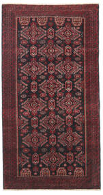 Beluch Patina Tappeto 95X177 Orientale Fatto A Mano Rosso Scuro/Nero/Marrone Scuro (Lana, Persia/Iran)