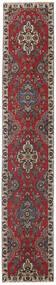 Tabriz Patina Tappeto 80X430 Orientale Fatto A Mano Alfombra Pasillo Rosso Scuro/Marrone Scuro (Lana, Persia/Iran)