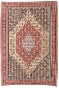 Kilim Senneh Tappeto 202X298 Orientale Tessuto A Mano Beige/Marrone (Lana, Persia/Iran)