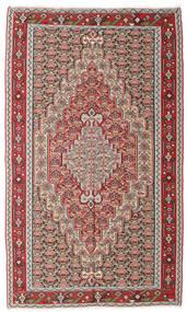 Kilim Senneh Tappeto 150X251 Orientale Tessuto A Mano Grigio Chiaro/Marrone (Lana, Persia/Iran)