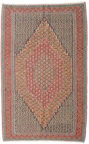 Kilim Senneh Tappeto 152X245 Orientale Tessuto A Mano Grigio Chiaro/Rosso Scuro (Lana, Persia/Iran)