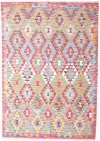 Kilim Afghan Old Style Tappeto 128X184 Orientale Tessuto A Mano Rosa Chiaro (Lana, Afghanistan)