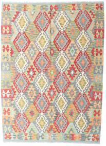 Kilim Afghan Old Style Tappeto 146X198 Orientale Tessuto A Mano Grigio Chiaro/Beige (Lana, Afghanistan)