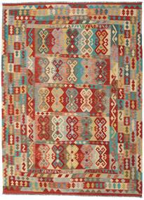Kilim Afghan Old Style Tappeto 251X343 Orientale Tessuto A Mano Marrone Chiaro/Beige Scuro Grandi (Lana, Afghanistan)