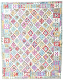 Kilim Afghan Old Style Tappeto 154X193 Orientale Tessuto A Mano Beige/Azzurro (Lana, Afghanistan)