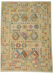 Kilim Afghan Old Style Tappeto 255X348 Orientale Tessuto A Mano Verde Chiaro/Beige Scuro Grandi (Lana, Afghanistan)
