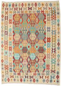 Kilim Afghan Old Style Tappeto 256X345 Orientale Tessuto A Mano Beige/Beige Scuro Grandi (Lana, Afghanistan)
