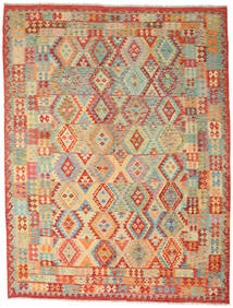 Kilim Afghan Old Style Tappeto 260X336 Orientale Tessuto A Mano Beige Scuro/Rosso Grandi (Lana, Afghanistan)