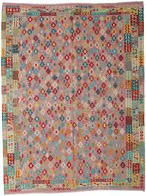 Kilim Afghan Old Style Tappeto 260X340 Orientale Tessuto A Mano Marrone/Grigio Chiaro Grandi (Lana, Afghanistan)