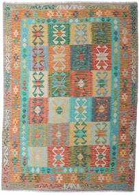 Kilim Afghan Old Style Tappeto 183X258 Orientale Tessuto A Mano Grigio Chiaro/Marrone Chiaro (Lana, Afghanistan)