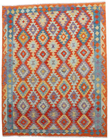 Kilim Afghan Old Style Tappeto 155X194 Orientale Tessuto A Mano Grigio Chiaro/Arancione (Lana, Afghanistan)