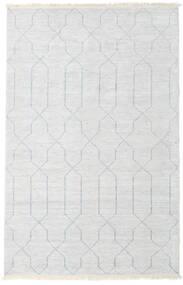 Bambù Di Seta Handloom Tappeto 160X230 Moderno Fatto A Mano Beige/Grigio Chiaro/Bianco/Creme ( India)