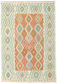 Kilim Afghan Old Style Tappeto 203X297 Orientale Tessuto A Mano Beige/Verde Chiaro (Lana, Afghanistan)
