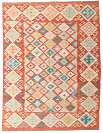 Kilim Afghan Old Style Tappeto 152X199 Orientale Tessuto A Mano Beige Scuro/Rosso (Lana, Afghanistan)