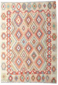Kilim Afghan Old Style Tappeto 202X287 Orientale Tessuto A Mano Beige Scuro/Beige (Lana, Afghanistan)