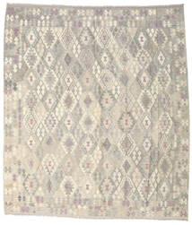 Kilim Afghan Old Style Tappeto 264X302 Orientale Tessuto A Mano Grigio Chiaro/Beige Grandi (Lana, Afghanistan)