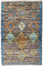 Moroccan Berber - Afghanistan Tappeto 93X143 Moderno Fatto A Mano Grigio Chiaro/Grigio Scuro (Lana, Afghanistan)