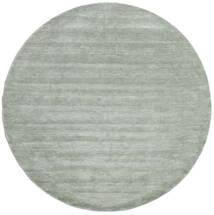 Handloom - Soft Teal Tappeto Ø 250 Moderno Rotondo Verde Chiaro/Blu Turchese Grandi (Lana, India)